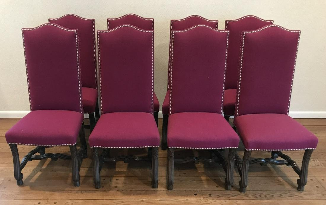 Custom Upholstered Italian Baroque Dining Chairs
