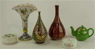 Collection of Pottery  Porcelain Table Articles