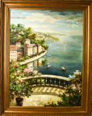 Palace Size Oil Painting Mediterranean Balcony