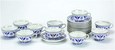 Antique Royal Vienna Porcelain Lunch Set  Service