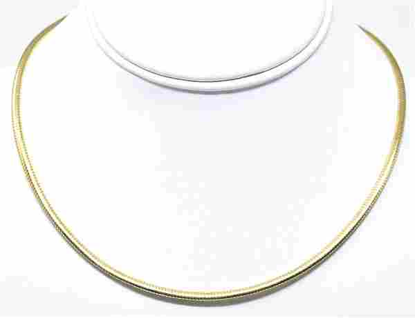Vintage Italian 10kt Yellow Gold Necklace Chain