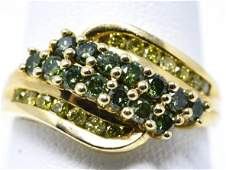 Estate 14kt Yellow Gold  Colored Diamond Ring