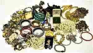 Large Collection Vintage to Modern Costume Jewelry