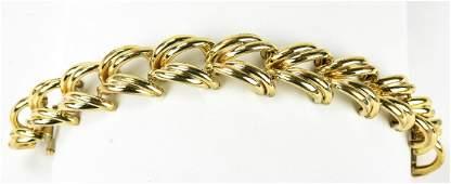 Vintage C 1940s Gilt Metal / Gold Filled Bracelet