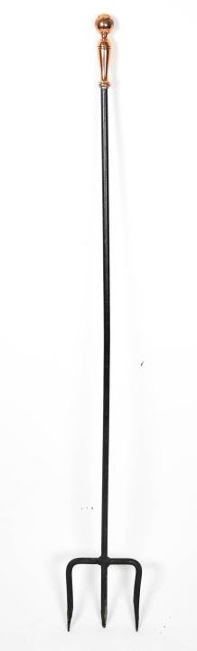 Long Handled Copper / Iron Fireplace Pitch Fork