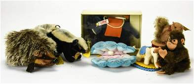 Collection Small Scale Steiff Stuffed Animals