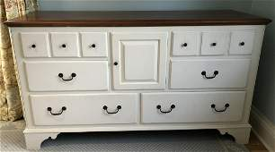 Ethan Allen French Country White Console Dresser