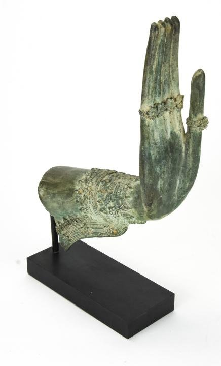 Thai Bronze Buddha Hand Sculpture