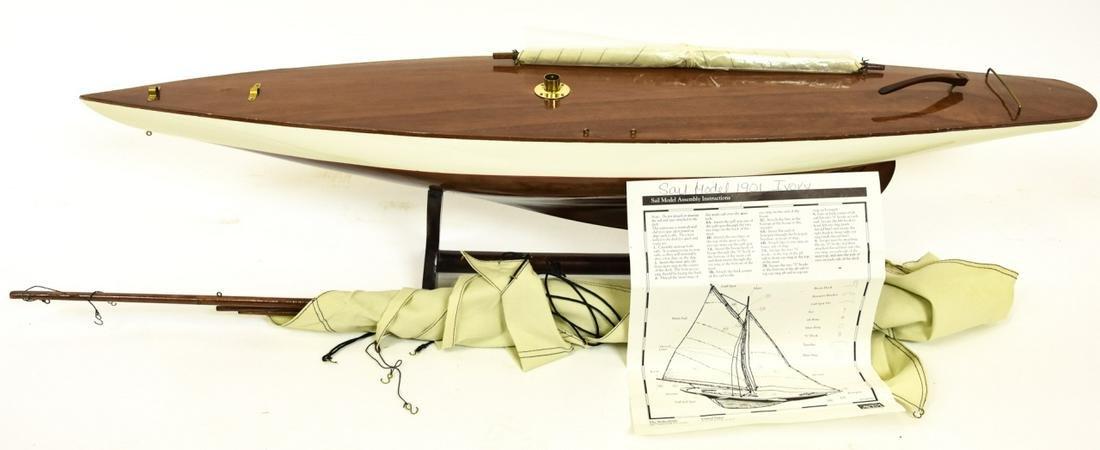 Authentic Models Inc. Wood Sail Boat Model 1901
