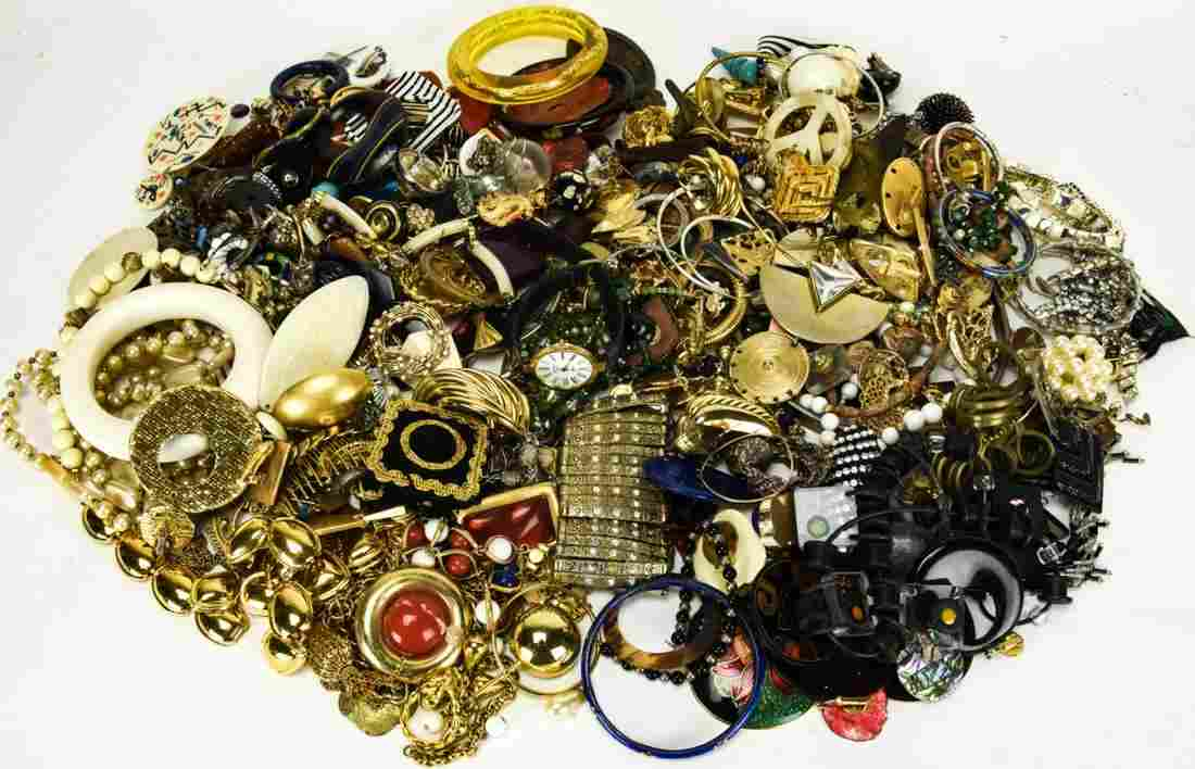 Large Collection Vintage Costume Jewelry