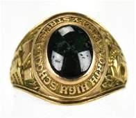 Vintage C 1958 10kt Yellow Gold School Ring