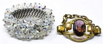 Two Vintage Costume Jewelry Bracelets