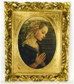 Antique Italian Gilt Frame W Raphael Madonna Print