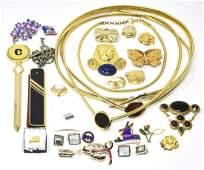 Large lot of Designer Costume Vintage Jewelry