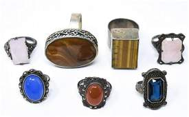 Collection Antique  Vintage Rings Includ Sterling