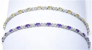 2 Sterling Silver Infinity Heart Link Bracelets