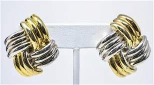 Pair of Vintage Sterling & Vermeil Earrings