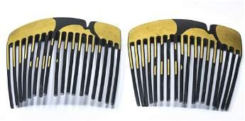 Rare Tiffany & Co Angela Cummings 24kt Gold Combs