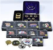 Collection of Enamel Olympic Medals / Pins w Cases