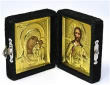 Double Sided Velvet Framed Religious Icon