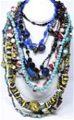 Group Vintage Art Glass Costume Jewelry Necklaces