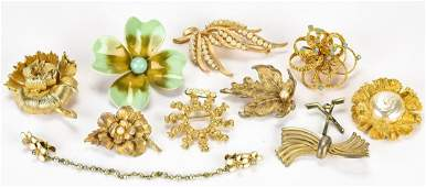 Collection Vintage Costume Jewelry Brooch / Pins