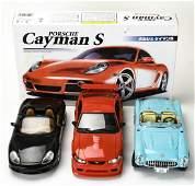 Metal Car Models Porsche, Corvette, Mustang Cobra