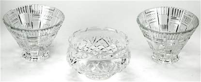 3 Waterford & Waterford Marquis Crystal Bowls