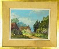 Signed High Impasto Landscape Scene Oil Painting