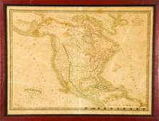 Antique Amerique Septentrionale Framed Map