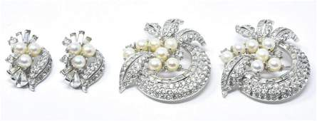 Vintage Jomaz Pair of Brooches & Pair of Earrings