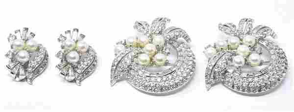 Vintage Jomaz Pair of Brooches & Pair of Earrings