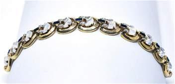 Vintage 1950s Crown Trifari Clair de Lune Bracelet