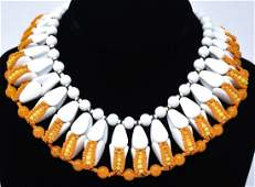 Vintage Miriam Haskell C 1970s Collar Necklace