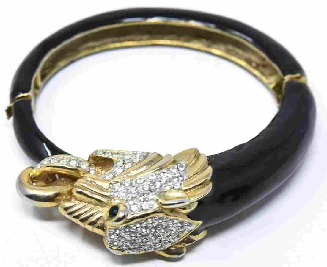 Costume Jewelry David Webb Style Panther Bracelet