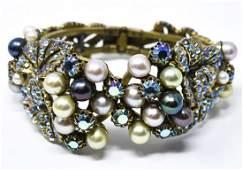 Vintage C 1955 Elsa Schiaparelli Clamper Bracelet