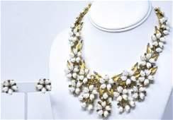 Rare Crown Trifari Sorrento Pattern Jewelry Suite