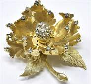 Vintage C 1960s Warner New York Flower Brooch