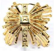 Impressive Gilt Metal Emanuel Ungaro Cuff Bracelet