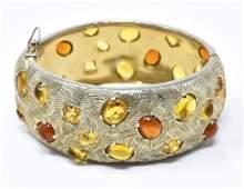Vintage C 1960s Castlecliff Rhinestone Bracelet