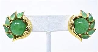 Vintage C 1970s Trifari Jewels of India Earrings