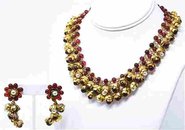 Vintage C 1960s French Parurier Costume Jewelry