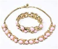 Vintage C 1955 Crown Trifari Necklace & Bracelet