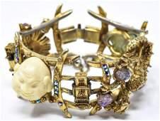 Vintage C 1960s HAR Chinese Motif Bracelet