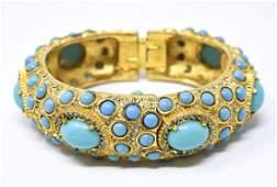 Vintage C 1975 Kenneth J Lane Bracelet w Watch