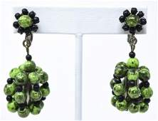 Pair of Vintage C 1960s Miriam Haskell Earrings