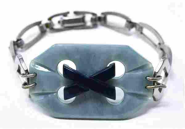Antique C 1920s Art Deco Style European Bracelet