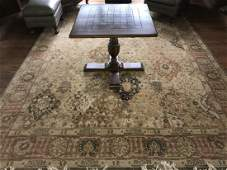 Hand Knotted Wool  Silk Blend Oriental Carpet