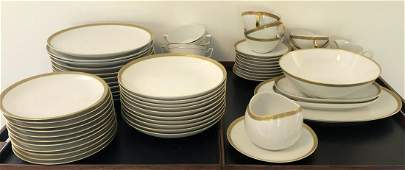 Mid C Rosenthal Thomas Gold Rimmed China Set