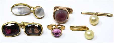 Collection Cuff Links  Buttons Including Gold